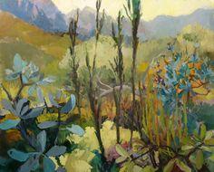 Jonkershoek by Cape Town based landscape artist Jenny Parsons Urban Landscape, Abstract Landscape, Landscape Paintings, 2d Art, Flowers Nature, Cool Art, Nice Art, Artist At Work, Creative Design