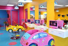 Kids hair salon stations