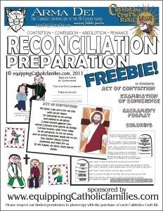 First Reconciliation Prep: FREE Printable | Equipping Catholic Families