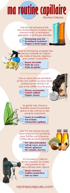 Simple et fonctionne pour moi depuis des mois! Simple et fonctionne pour moi depuis des mois! Curly Hair Care, Kinky Hair, Curly Hair Styles, Frizzy Hair, Curly Afro, Relaxed Hair, Hair Repair, Afro Hair Routine, Natural Hair Tips