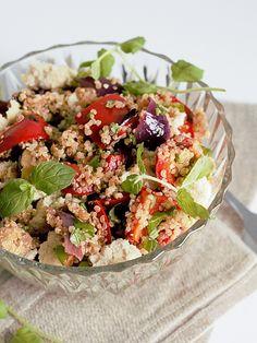 Ruokakonttuuri: Minttuinen kvinoasalaatti / quinoa salad with fresh mint