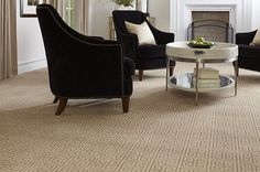 This Axminster construction made of 100% New Zealand wool is a gorgeous mix of style and sophistication. Square spirals march neatly across a palette of earth tones in this Greek Key Square. Serafina #carpet in Desert Sand, available in 7 colors
