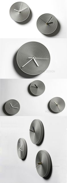 ,Modern Concrete Round Desk Clock Wall Clock Made from Concrete and Metal Wall Clock Art Deco, Wall Clock Design, Art Deco Stil, Metal Clock, Metal Art, Beton Design, Modern Clock, Modern Wall, Kitchen Wall Clocks
