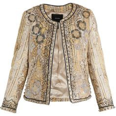 Isabel Marant Johnson jacket (107.405 RUB) ❤ liked on Polyvore featuring outerwear, jackets, blazers, isabel marant, open front jacket, isabel marant jacket, embroidered jacket and paisley jacket