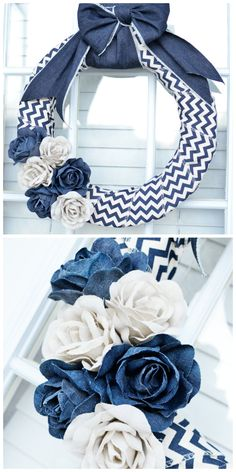 Denim Wreath Tutorial - in only 10 minutes!!
