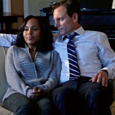 one minute. the way he looks at her. Olivia And Fitz, Interracial Marriage, Tony Goldwyn, Marriage Couple, Mr President, The Way He Looks, Olivia Pope, Bwwm, Kerry Washington