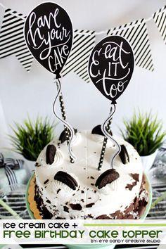 free birthday cake topper @eyecandycreate #caketopper #coldstonecreamery…