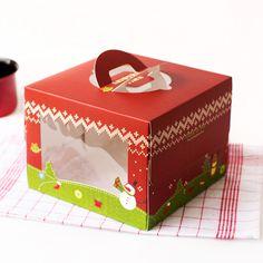 圣诞毛衣_圣诞毛衣 8寸生日奶油红色蛋糕盒/手提盒 附送瓦楞底托 - 阿里巴巴