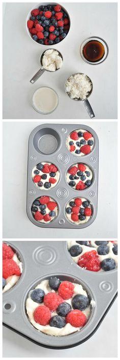 4 Ingredient Coconut Berry Fudge Cups. This healthy treat is Vegan, gluten free and paleo! #vegan #glutenfree #paleo