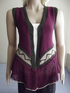 HAND KNITTED Sweater / Hand Knitted Vest / by BilgesCreation, $68.00
