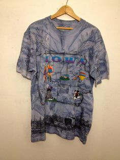 90s Novelty Iowa Map T Shirt by thatVideoVAMPvintage on Etsy, $17.00