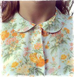 Liberty Print, Liberty Fabric, Floral Blouse, Floral Tops, Vintage Shirts, Vintage Outfits, Sarah Moon, Vintage Soul, Peach Blossoms