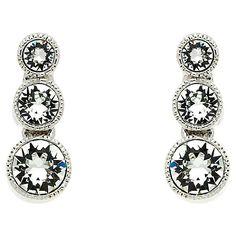 dc62c60b7 Buy Cachet Rhodium Plated Swarovski Crystal Stud Earrings, Silver Online at  johnlewis.com