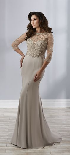 3e4c42e00190c Christina Wu Elegance 17893 is an amorous crepe trumpet gown that has  spaghetti straps and multiple seams for texture. A removable sheer beaded  bodice can ...