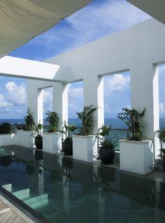 Penthouse lap pool at the Setai Hotel, Miami Beach, Florida - re-pinned by http://www.kimesengineering.com