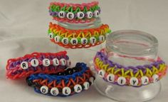 Personalized rubber band bracelets
