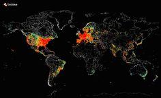 Cum arată toate dispozitivele conectate la internet pe o hartă?