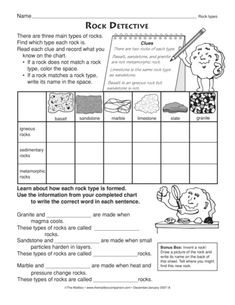 rocks and minerals worksheets for middle school pdf