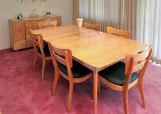 heywood wakefield dining room furniture a birch dining room set originally a heywood wakefield dining table chairs 1950s Furniture, Furniture Styles, Dining Table Chairs, Dining Room Furniture, Dining Sets, Wakefield, Casual Dining Rooms, 1950s Decor, Dinette Sets
