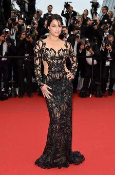 Michelle Rodriguez portait une robe Zuhair Murad - J2