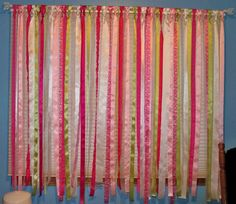 Wonderful Pin It Okay, So This Isnu0027t Exactly Scrapbooking But It Is Crafty! Girls  Room CurtainsRibbon ...