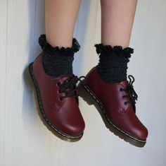 Docs and Socks: The 1461 shoe in cherry red, shared by fashion.simonaa. http://bellanblue.com