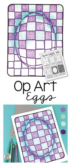 This Op Art Egg lesson is rich with inter-disciplinary connections to math, science, color theory and perspective drawing. The illustrated step-by-step instructions and optional templates will take the fear out of these exquisitely complicated eggs. When you show students how art concepts and color theory can come alive to create optical illusions it will help reinforce what they may already know in a way that is sure to tickle their fancy.