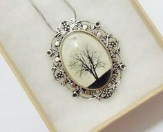 Serenity  Wearable Art Cameo Necklace by saruscrafts on Etsy, $30.00