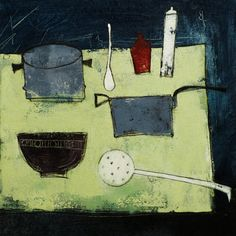 Donald Maclean - Kitchen table, pistachio and green