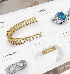 Amouria jewelry website design by Jekin Gala, via Behance