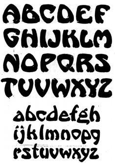 alphabet for stencil? Lettering Styles Alphabet, Alphabet Letters Images, Calligraphy Alphabet, Calligraphy Fonts, Different Lettering Styles, Types Of Lettering, Brush Lettering, Graffiti Alphabet, Graffiti Lettering