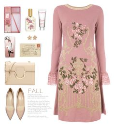 """September"" by molly2222 ❤ liked on Polyvore featuring Alberta Ferretti, Forever 21, Lollia, Casetify, Clarins, Salvatore Ferragamo, Colette Jewelry and falldresses"