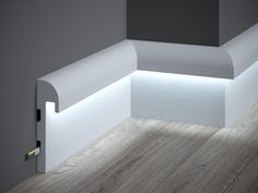 Mardom Decor is a leading producer and distributor of decorative moldings. The assortment includes many patterns of skirtings, wall panels, cornice mouldings, lighting mouldings, dedicated for use with LED strips. Hidden Lighting, Cove Lighting, Indirect Lighting, Home Lighting Design, Ceiling Light Design, Interior Lighting, Home Room Design, House Design, Baseboards