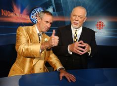 awesome canadian things // Hockey Night in Canada. Ron MacLean and Don Cherry 💙 Canadian People, Canadian Things, I Am Canadian, Canadian Girls, Canadian History, Don Cherry, Canada Eh, Canada Jokes, Vancouver Canucks