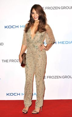 Vanessa Hudgens knows how to rock a jeweled jumpsuit! #fashion