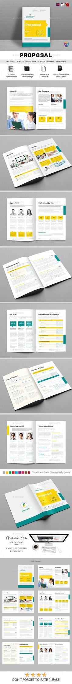 Proposal Template InDesign INDD. Download here: https://graphicriver.net/item/proposals/17416514?ref=ksioks