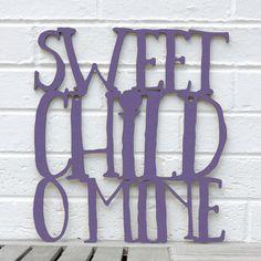 Sweet Child O Mine nursery baby child guns n roses by spunkyfluff