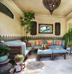Exceptionnel Comfortable Look Of Moroccan Theme Outdoor Patio Furniture