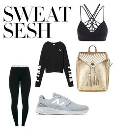 """Untitled #33"" by amandaberger on Polyvore featuring Victoria's Secret and New Balance"