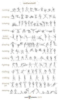 Coolest collection of stick figure action poses ever. …