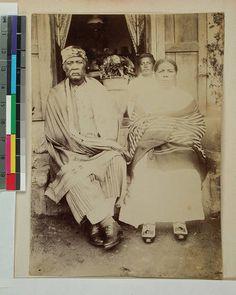Governor Abraham Ratsimiraho and his wife Maria, Soavina, Madagascar, ca.1890 :: International Mission Photography Archive, ca.1860-ca.1960