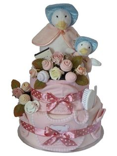 Jemimah Puddle Duck Mummy & Baby Nappy Cake by Sweetiepie Nappy Cakes