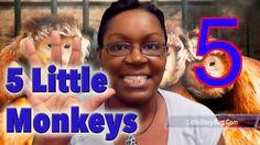 Preschool songs - Five Little Monkeys - LittleStoryBug Action Songs For Children, Kids Songs, Preschool Songs, Preschool Learning, Five Little Monkeys, Working With Children, Story Time, Singing, Humor