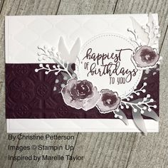 Stampin Up First Frost – Anniversaire Stampin Up Christmas 2018, Christmas Cards, Stampin Up Karten, Stampin Up Cards, Homemade Birthday Cards, Masculine Birthday Cards, Anna Griffin Cards, Fall Cards, Paper Cards