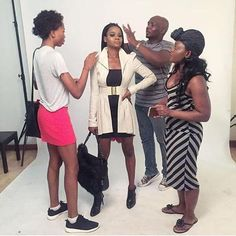 Olajumoke is getting fierce! check her out prepping for a photoshoot!