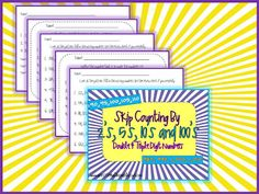 Skip Counting BY 2s, 5s, 10s... 2 digit and 3 digit numbers...FREEBIE!