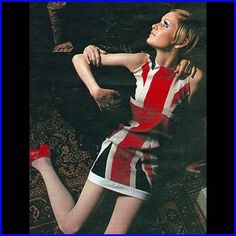 Twiggy ~ Union Jack dress