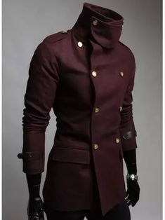 New Men Trench Fashion Double Platoon To Buckle Men Winter Wool Coat Casual Jack. Kurta Designs, Mens Fashion Suits, Character Outfits, Mens Clothing Styles, Mantel, Cool Outfits, Men Casual, Casual Wear, Menswear