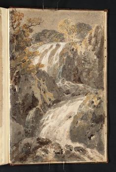 Joseph Mallord William Turner - A Waterfall, 1798