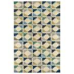 Art Tiles Blue 3 ft. 6 in. x 5 ft. 6 in. Area Rug